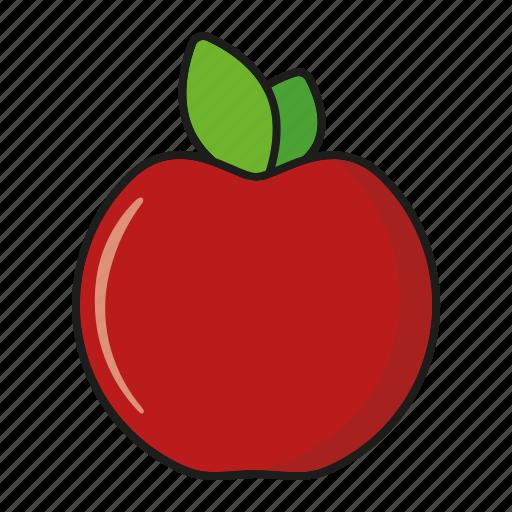 apple, food, fresh, fruit, red icon