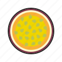 exotic, food, fresh, fruit, maracuja, passion fruit, tropical icon