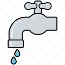 drops, equipment, faucet, gardening, tap, tools, water icon