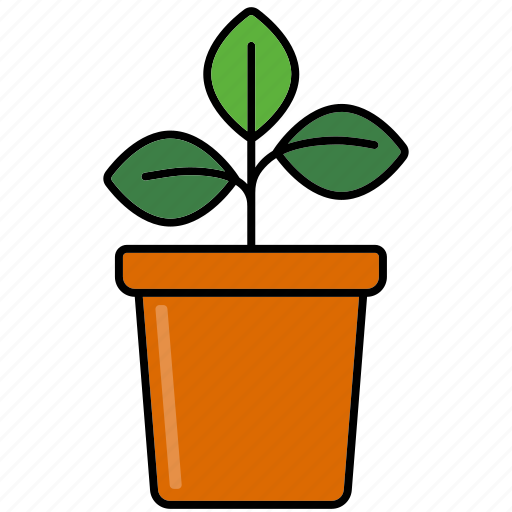 equipment, flower pot, gardening, plant, sprout icon