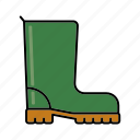 boots, equipment, gardening, gum boots, rubber boots, wellingtons icon