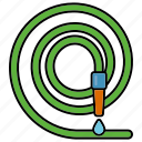 drop, equipment, gardening, hose, tools, water, watering icon