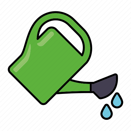 drops, equipment, gardening, tools, water, watering, watering can icon