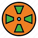 cassette, color, film, outline, project, roll, roll film icon