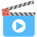 action clapper, clapperboard tool, film making, movie recording, studio showreel icon