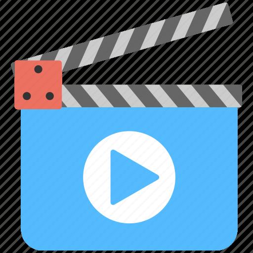 action clapper, clapperboard tool, film making, movie recording, studio showreel icon