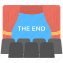 cinema movie, play end, theatre art, theatre movie the end, theatre stage