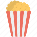 cinema food, entertainment, movie time, popcorns, snacks
