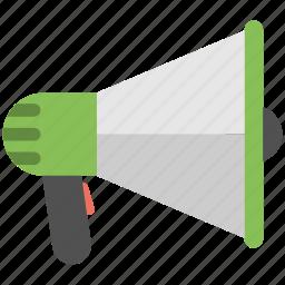 announcement, direction orders concept, loudspeaker, marketing, megaphone, speaker icon