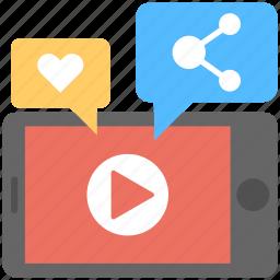 internet sharing, internet video, social media, viral marketing, viral video icon
