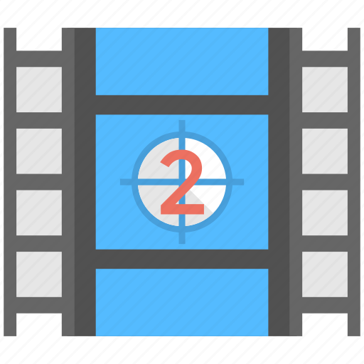 fil stock, film opening countdown, film reel, frame, second take icon