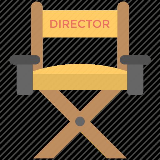 cinema chair, director seat, furniture, movie director seat, the director chair icon