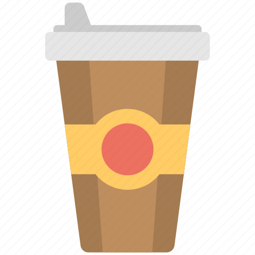 disposable glass, drink, snacks, soft drink, upsize drink icon