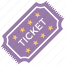 cinema ticket, movie raffle, movie ticket, theater ticket, ticket icon