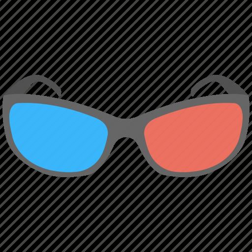 cinema glasses, goggles, movie glasses, visual effects icon