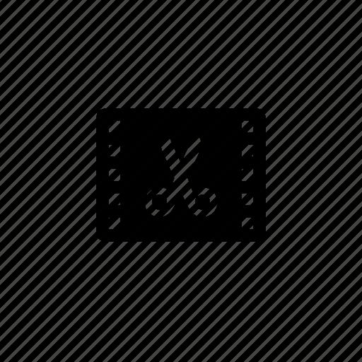 cut, film icon