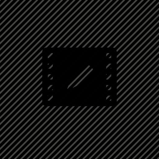 edit, film, media icon