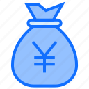 bag, money, yen, currency, finance