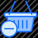 basket, shopping, ecommerce, shop, minus