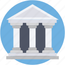 building, institute, school building, courthouse, bank icon