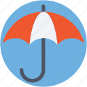 business, insurance, money protection, safe investment, umbrella icon
