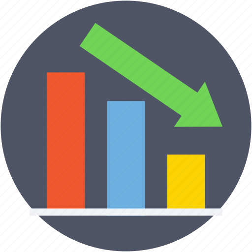 business loss, decreasing chart, financial performance, loss chart, loss graph icon