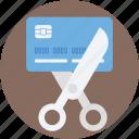 banking, card expired, credit card, cutting card, cutting credit card