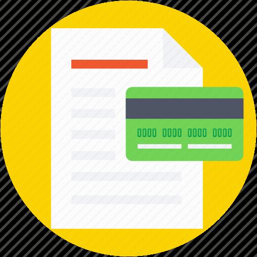 credit card, dollar, receipt, receipt paper, voucher icon