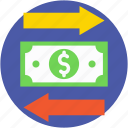devaluation, dollar arrows, dollar valuation, finance, valuation arrow icon