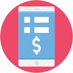 banking app, m commerce, mobile banking, online banking, wireless banking icon