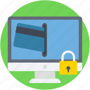internet banking, lock, protection, secure banking, secure payment icon