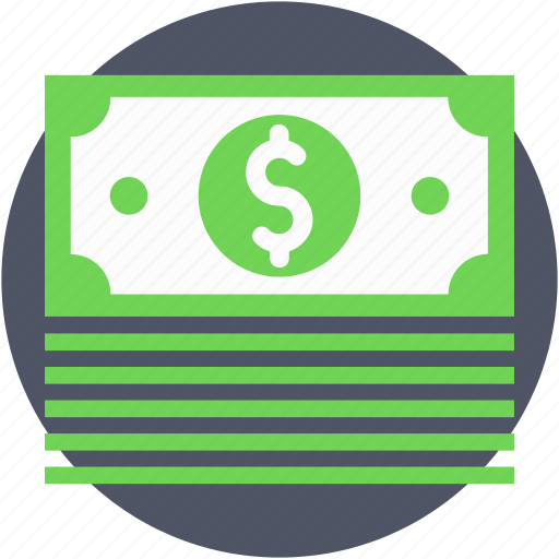 currency, dollar, money, paper money, paper notes icon