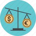 balance, business, clock, coin, dollar, finance, financial, management, money, time, value icon