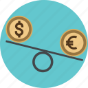 balance, business, curency, dollar, down, exchange, finances, investment, low, money, online, sign icon