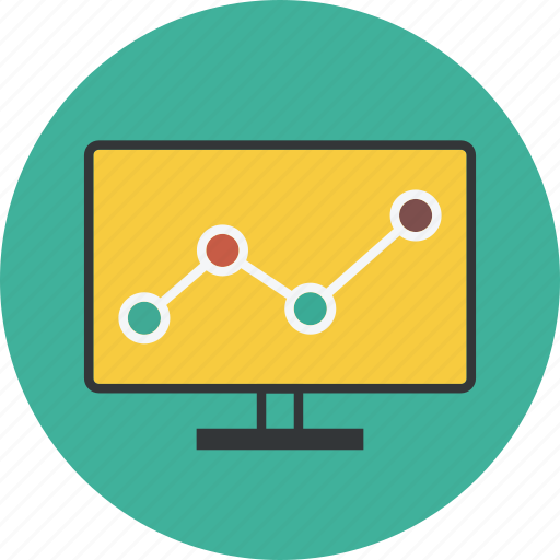 business, chart, computer, data, dollar, finance, graph, money, report icon