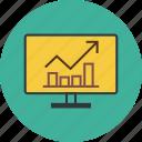 arrow, bar, business, chart, computer, data, dollar, finance, graph, money, report icon