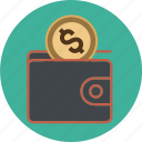 bank, cash, coins, dollar, euro, finance, money, payment, port, shopping, wallet icon