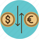 capital, cash, conversion, converter, currency, dollar, euro, exchange, finance, transfer icon