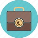 business, circle, coin, currency, dollar, finance, insurance, job, money, online, portfolio, sign, suitcase icon