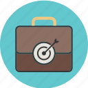 business, currency, dollar, finance, insurance, job, money, portfolio, suitcase, target icon