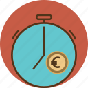 business, clock, coin, dollar, euro, finance, financial, management, money, time, value icon