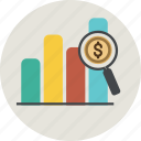 bar, business, dollar, euro, finance, frame, graph, graphic, graphicdiagram, money, percent, report, statistic icon