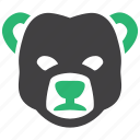 banking, bear, market, stock icon