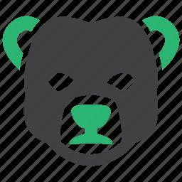 banking, bear, market, stock icon