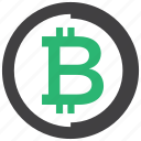 bitcoin, crypto, cryptocurrency, mining icon