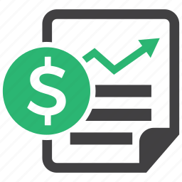 financial, profit, report, revenue icon