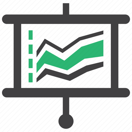 business, graph, growth, statistics icon