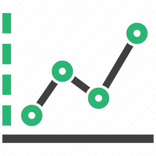 analytics, chart, growth, line icon