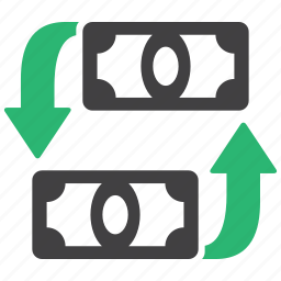 currency, exchange, money, transfer icon