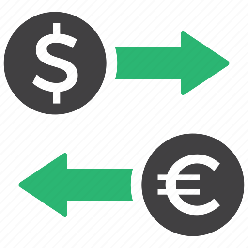 currency, exchange, money, transaction icon